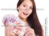 девушка с деньгами фото